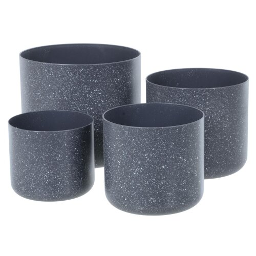 (Dk grey) Sandstone Plant Pots | Set of Four