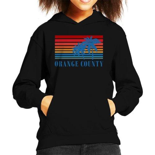 Orange County Retro 70s Sunset Kid's Hooded Sweatshirt