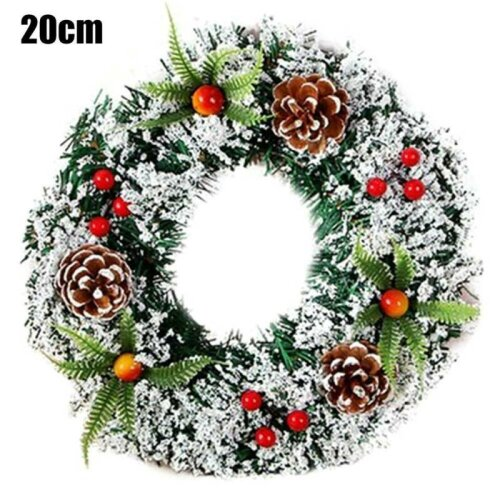 (20CM) Wall Hanging Christmas Wreath Decoration Party Door Garland Ornament