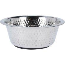 Stainless Steel Dog Bowls Feeding Bowls Cat Pet Bowls Hammered Design Non Slip