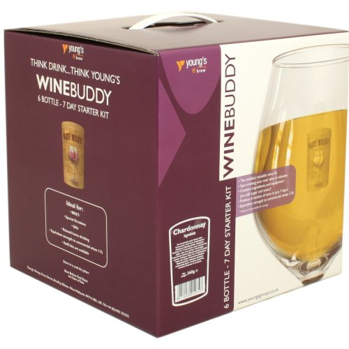 WineBuddy Starter Kit Chardonnay 6 Bottle - Home brew Wine Making Kit