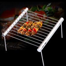 Portable Stainless Steel BBQ Grill Folding BBQ Grill Mini Pocket BBQ Grill Barbecue Accessories
