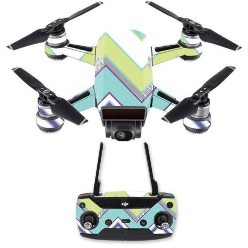 MightySkins DJSPCMB-Pastel Chevron Skin Decal for DJI Spark Mini Drone Combo - Pastel Chevron