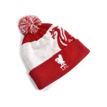 Liverpool Ski Bobble Knitted Hat Quick Check Red White
