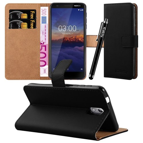 For Nokia 3.1 Leather Wallet Flip Case Cover