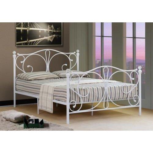 (3ft Single, White) Isabelle Metal Bed Frame