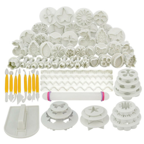 68pc Cake Decorating Tools Set | Fondant Icing Cake Supplies