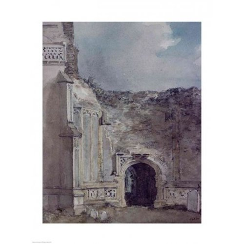 East Bergholt Church North Archway of The Ruined Tower Poster Print by John Constable - 18 x 24 in.