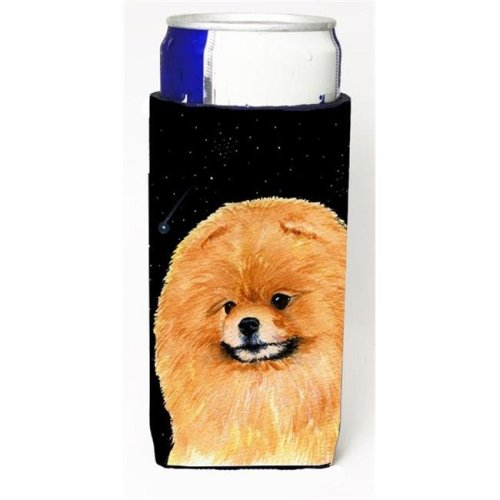 Starry Night Pomeranian Michelob Ultra bottle sleeves For Slim Cans - 12 oz.