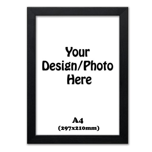 A4 Black Picture Photo Frame, Office Certificate Photo Frame Art Frame