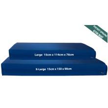 Blue Sprung Gymnastics Landing Gym Crash Mat 15cm