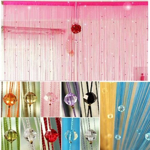 Imitated Crystals Beads String Curtain Window DIY Wall Decor