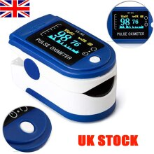 UK STOCK ! Fingertip Pulse Oximeter - Oxygen Saturation Meter Spo2 - Pr Blood Monitor