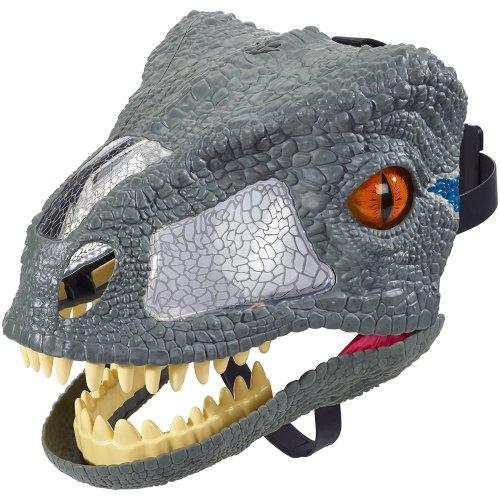 FMB74 Jurassic World Chomp 'N Roar Mask Velociraptor Blue