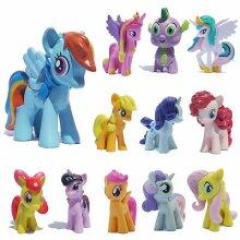12Pcs My Little Pony Friendship Action Figure Toy