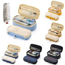 Large Capacity School/College/Uni Pen Pencil Cases Zip Stationery Pouch Bag Case