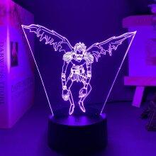 Manga Death Note L Lawliet Figure Led Night Light Anime Room