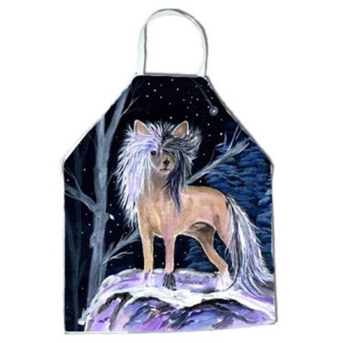 Starry Night Chinese Crested Apron - 27 x 31 in.
