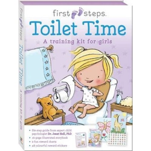 First Steps Ready to Go Toilet Time for Girls by Hinkler Books