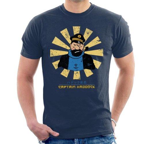 Captain Haddock Retro Japanese Tintin Men's T-Shirt