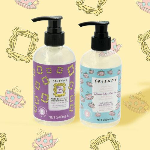 Friends Anti-Bacterial Gel Pump Hand Sanitiser 240ml (2 Pack)