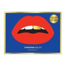 Jonathan Adler Lips Boxed Diecut Notecard Set by Galison & Other Jonathan Adler