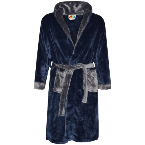 Kids Girls Boys Bathrobe Designer Plain Dressing Gown Night Lounge Wear 2-13 Yr
