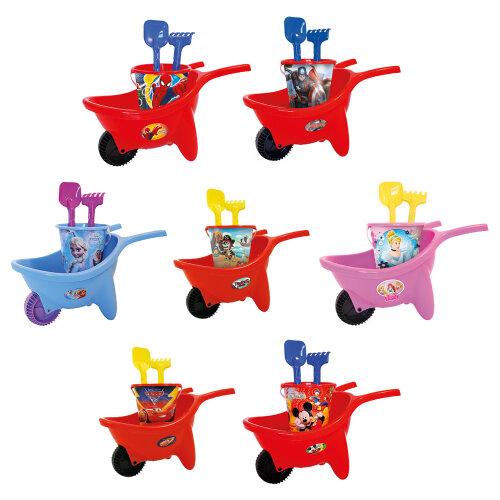 Kids Disney  Wheelbarrow Beach Bucket Play Toy Set