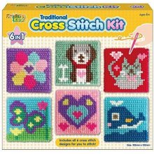 The Magic Toy Shop 6 in 1 Traditional Cross Stitch Kit for Kids