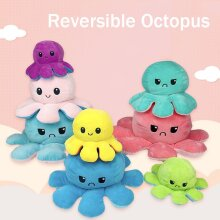 Animals Doll Double-Sided Flip Octopus Plush Toy