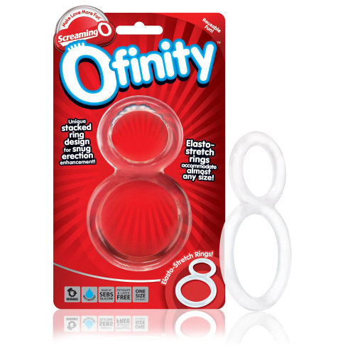 Screaming O Ofinity Penis Cock Ring | Clear One Size Fit Most Snug Fit Testicles