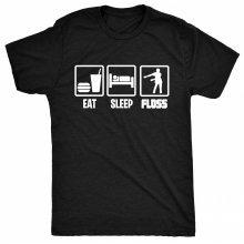 8TN Eat Sleep Floss  - Dance Hip Hop Mens T Shirt