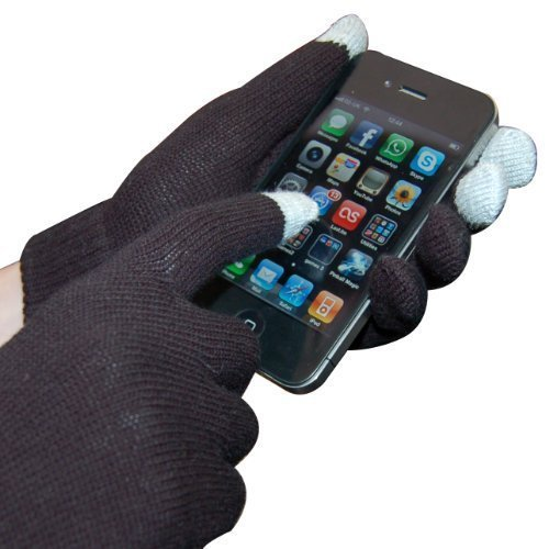 Black Smartphone Touch Screen Gloves - Smart Glove - Touch Glove For Smartphone Mobile Phone Touchscreen - Thumbs Up