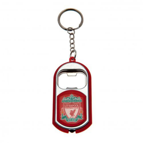 Liverpool F.c. Key Ring Torch Bottle Opener - Football Team Official Light Key -  football team official torch light bottle opener keyring executive