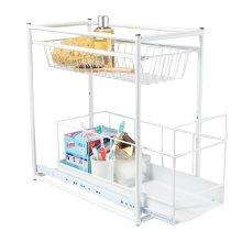 White 2-Drawer Cupboard Organizer