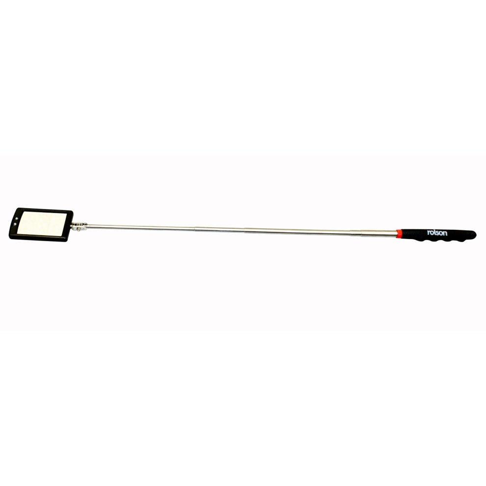 Rolson 60515 Two LED Telescopic Inspection Mirror
