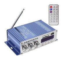 WINGONEER® 12V Hi-Fi Digital Stereo Audio Amplifier USB SD DVD FM Audio Stereo Radio MP3 Speaker Car Bluetooth Amplifier HiFi Mini 2 Channel...