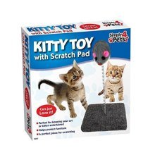 Kitty Toy With Scratch Pad With Toy Mouse