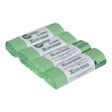 All-Green 30 Litre Biobag Compostable Kerbside Caddy Bin Liners, 40 Bags