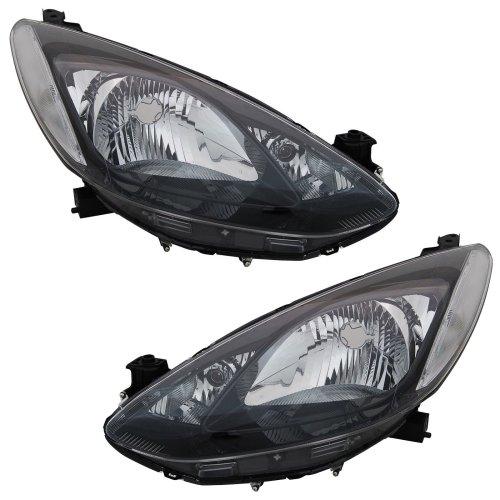 Mazda 2 2007-2015 Headlights Headlamps 1 Pair O/s & N/s