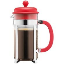 BODUM Caffettiera 8 Cup French Press Coffee Maker, Red, 1.0 l, 34 oz
