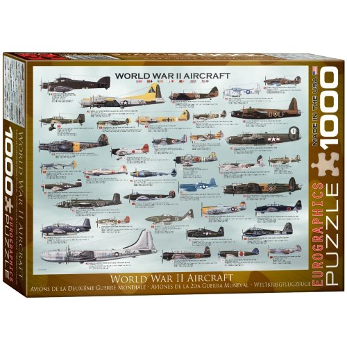 eg60000075 eurographics jigsaw puzzle 1000 pieces wwii aircraft