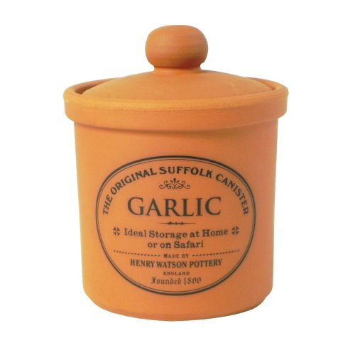 Garlic Keeper in Terracotta, Made in England