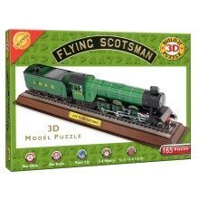 Build Your Own 3d Puzzle Model Kit - the Flying Scotsman (165 Pieces)