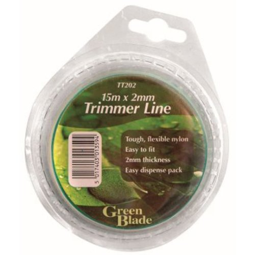 15m x 2mm Thick Strimmer Trimmer Line Cord Wire Tough Flexible Nylon Grass