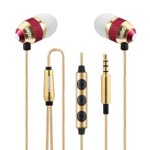 Sephia SP1050 Noise Isolating in-ear Earphones Headphones, HEAVY DEEP BASS for iPhone, iPad, iPod, Samsung Smartphones and Tablets (Gold With...