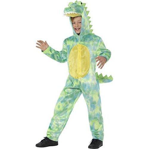 Smiffys 48353s Deluxe Dinosaur Costume, Green, S - Uk Age 4-6 Yrs - Costume Boy -  costume deluxe dinosaur boys fancy dress wild animal outfit sl