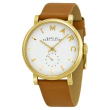 Marc by Marc Jacobs Baker Gold Brown Leather Ladies Watch MBM1316