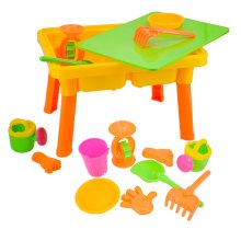 deAO Toys Lidded Sand & Water Table Set   2-in-1 Toddler Play Table