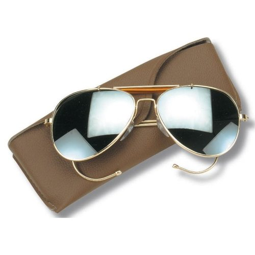 New Aviator Pilot Sunglassed Mirror Lenses With Case